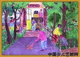 劳动的人们简笔画 劳动的人们图片欣赏 劳动的人们儿童画画作品