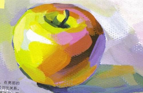 苹果简笔画 苹果图片欣赏 苹果儿童画画作品