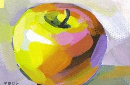 一颗苹果简笔画 一颗苹果图片欣赏 一颗苹果儿童画画作品