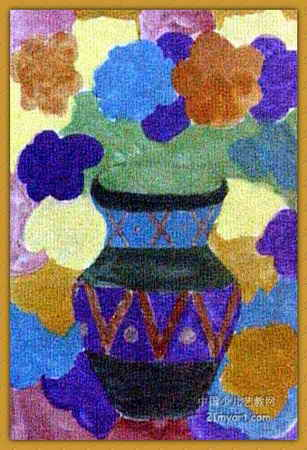 水粉画之 花和花瓶 -花和花瓶 简笔画 花和花瓶 图片欣赏 花和花瓶 儿童