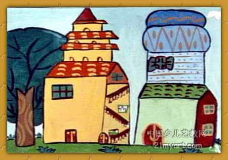 我的家 简笔画 我的家 图片欣赏 我的家 儿童画画作品