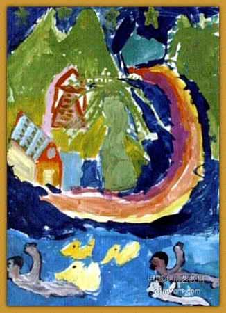 夏天的夜空 简笔画 夏天的夜空 图片欣赏 夏天的夜空 儿童画画作品