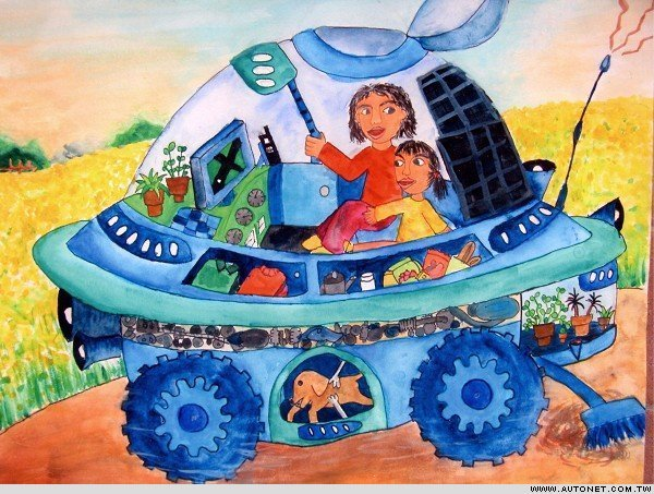 未来的汽车简笔画 未来的汽车图片欣赏 未来的汽车儿童画画作品