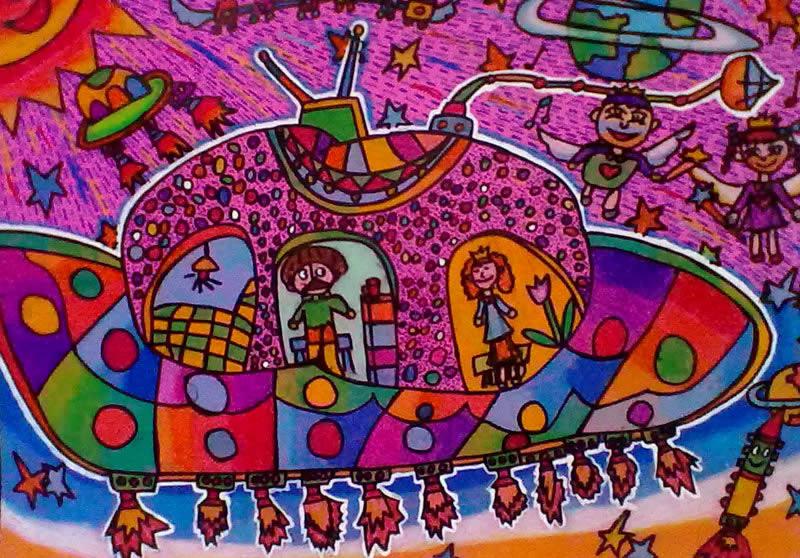太空飞船简笔画_太空飞船图片欣赏_太空飞船儿童画画