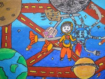 科幻图画大全画太空图片 科幻太空画,宇宙太空儿童科幻图画