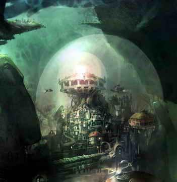 海底城市简笔画_海底城市图片欣赏