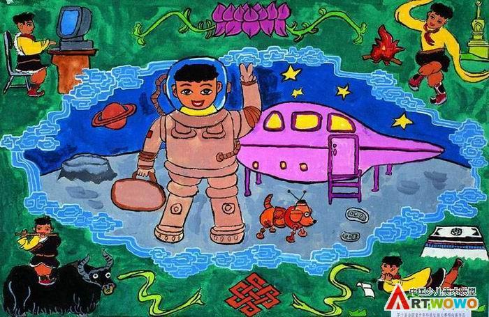 优秀儿童科幻画简笔画_优秀儿童科幻画图片欣赏_优秀