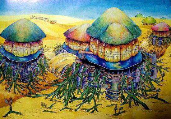 蘑菇屋简笔画_蘑菇屋图片欣赏_蘑菇屋儿童画画作品-有