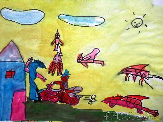 科幻世界 简笔画 科幻世界 图片欣赏 科幻世界 儿童画画作品