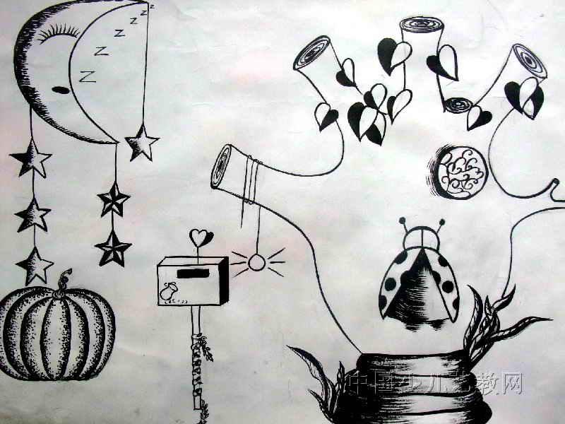 儿童线描画,儿童线描画图片大全,儿童线描画教程,儿童科幻线描画高清图片