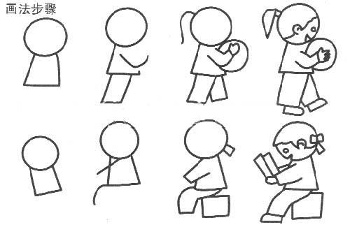 可爱小女孩简笔画简笔画 可爱小女孩简笔画图片欣赏 可爱小女孩简笔画儿童画画作品