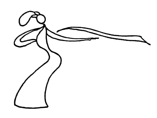 简笔画-舞蹈中的女孩