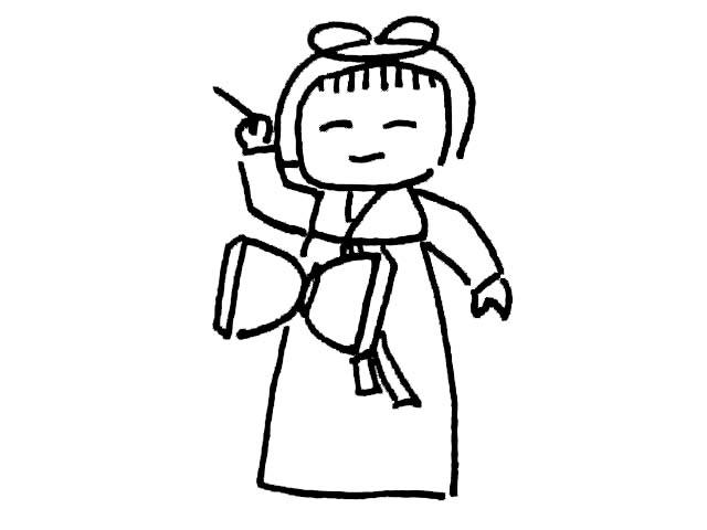 朝鲜小女孩简笔画 朝鲜小女孩图片欣赏 朝鲜小女孩儿童画