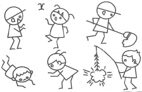 简笔画-可爱的小朋友们