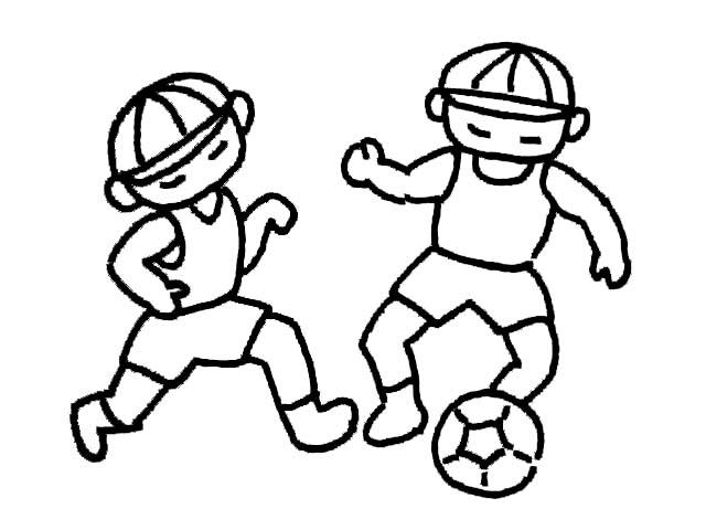 简笔画-足球小子