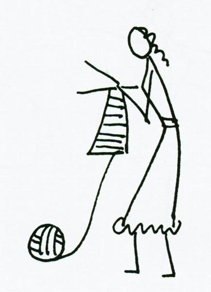 儿童画画 简笔画 织毛线的妈妈儿童画画