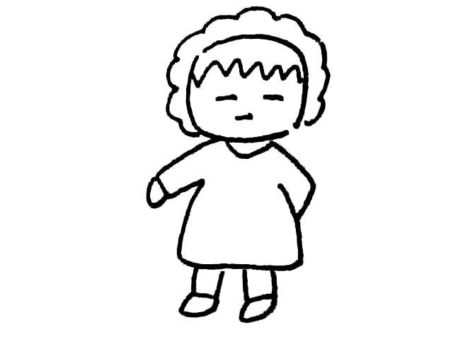 人物简笔画大全-超级可爱的樱桃小丸子简笔画_+人物简笔画大全-
