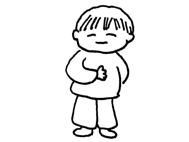 简笔画-可爱的小男孩