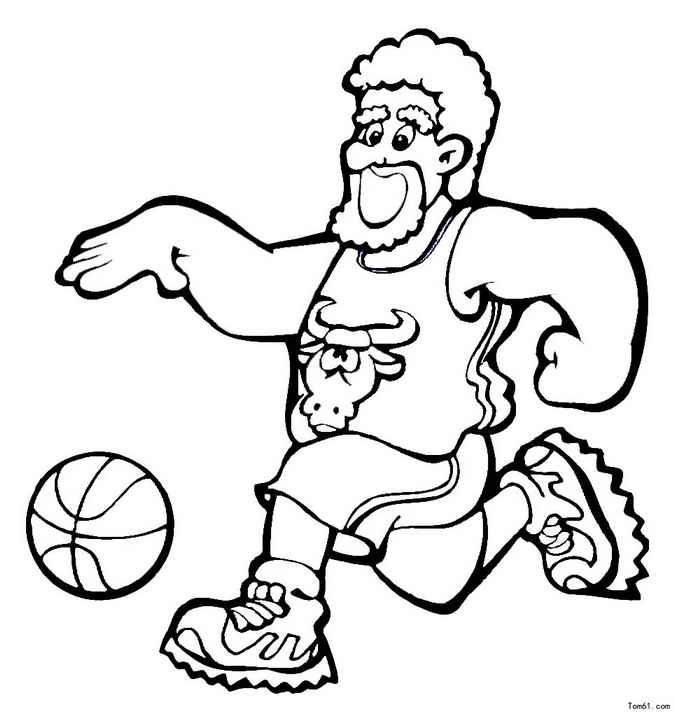 简笔画-教你画打篮球的小帅哥的简笔画