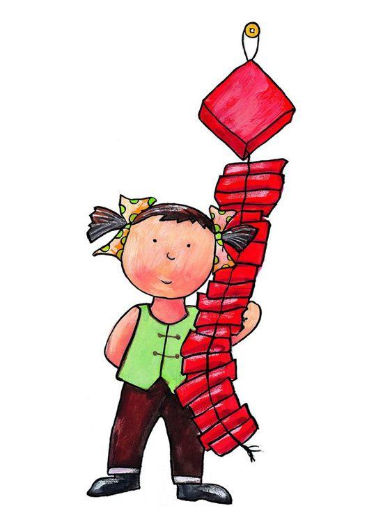 放鞭炮的简笔画-我和鞭炮的故事简笔画_ 放鞭炮