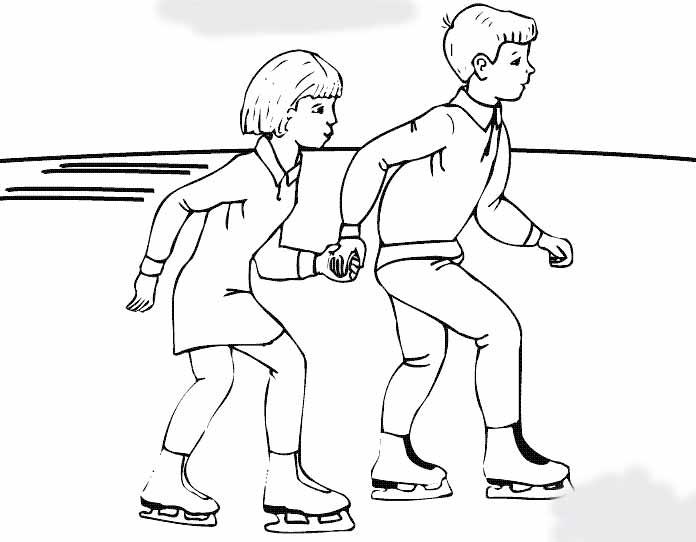 教你画如何溜冰的简笔画教程简笔画 教你画如何溜冰的简笔画教程图片欣赏 教你画如何溜冰的简笔画教程儿童画画作品