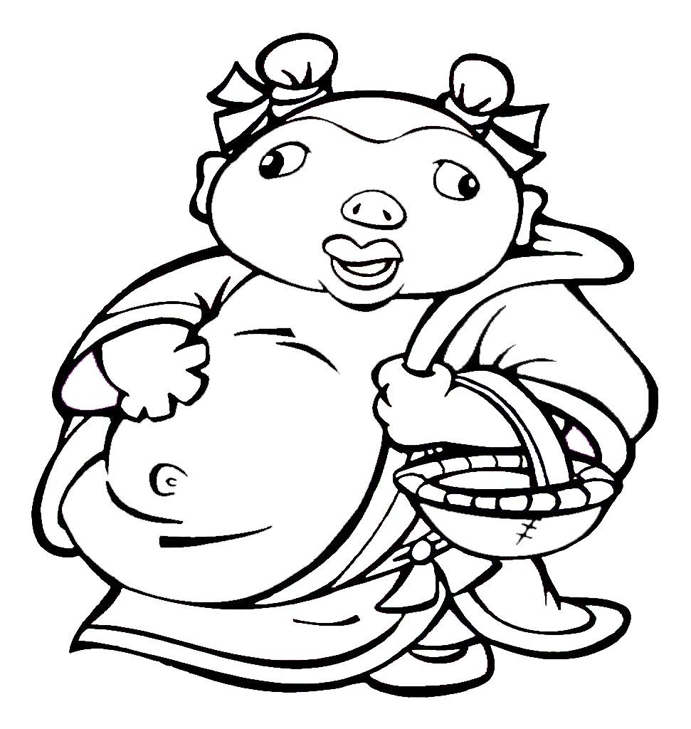 简笔画- 教你画可爱的猪八戒的简笔画教程