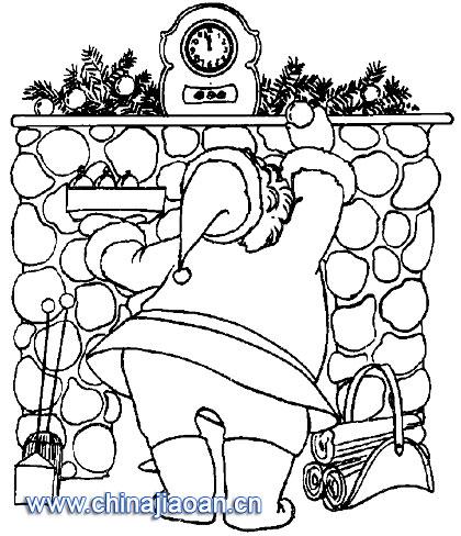关于圣诞老人的简笔画教程简笔画 关于圣诞老人的简笔画教程图片欣赏 关于圣诞老人的简笔画教程儿童画画作品