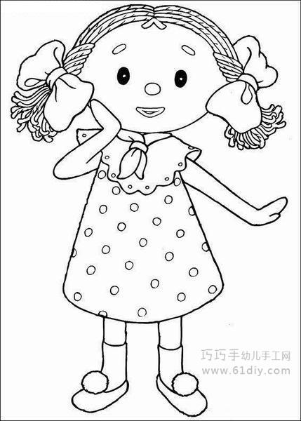 教你画可爱小女孩的简笔画教程简笔画
