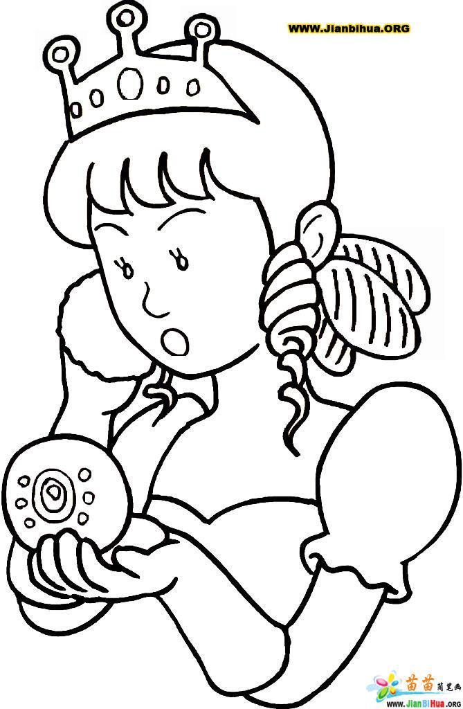 儿童画画 简笔画 人物简笔画-小公主儿童画画