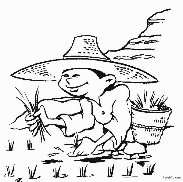农民伯伯简笔画