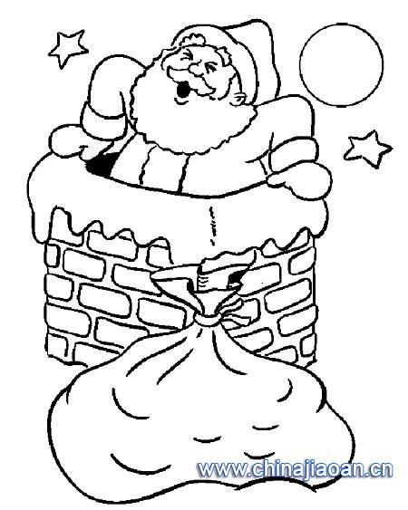 儿童画画 简笔画 圣诞老人简笔画-圣诞老人来了儿童