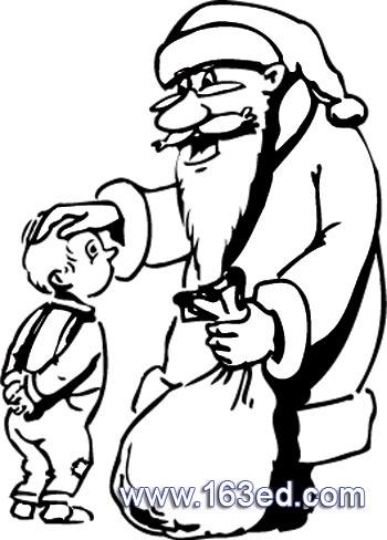 圣诞老人简笔画 圣诞老人和孩子简笔画 圣诞老人简笔画 圣诞老人和孩