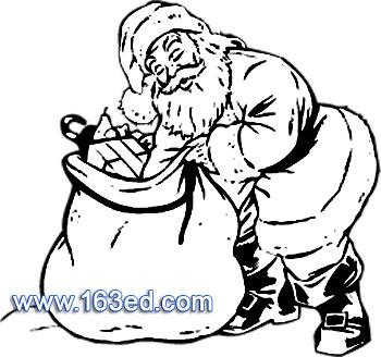 圣诞老人简笔画 圣诞礼物简笔画 圣诞老人简笔画 圣诞礼物图片欣赏