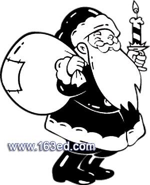 简笔画-圣诞老人简笔画-送礼物咯