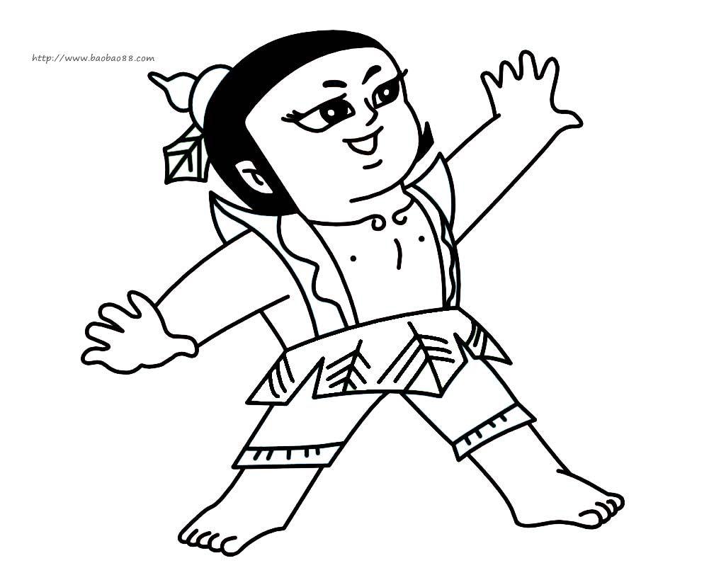 人物 葫芦娃简笔画3