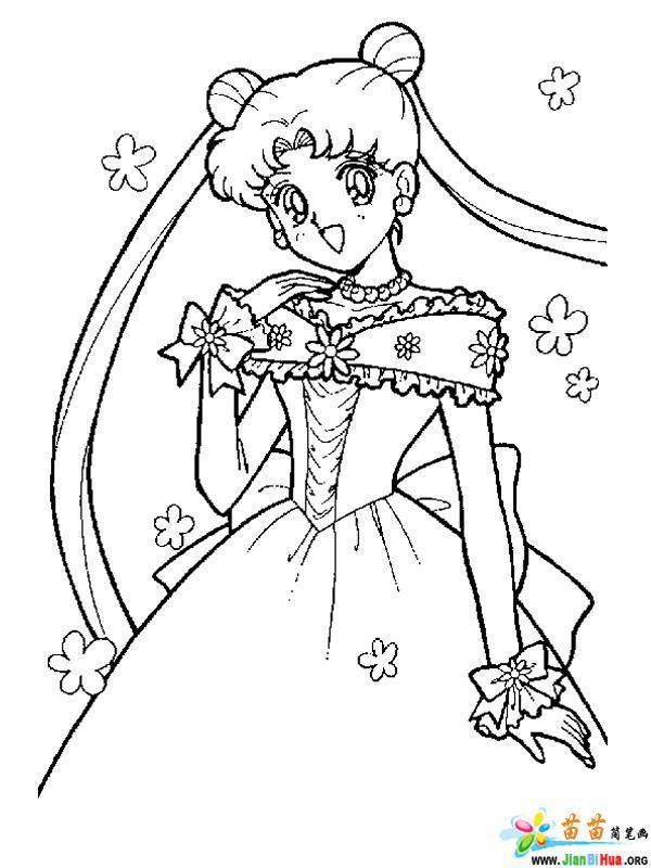 简笔画-美少女战士