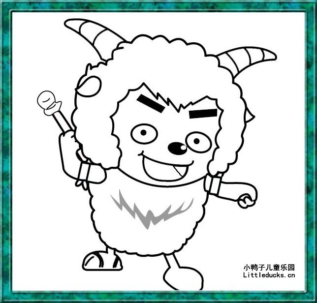 沸羊羊人物简笔画简笔画 沸羊羊人物简笔画图片欣赏 沸羊羊人物简笔