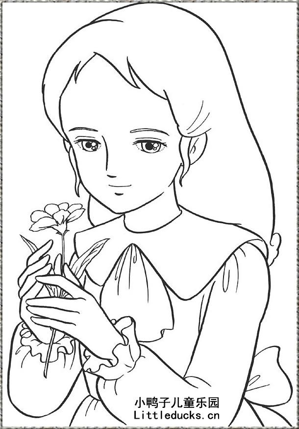 可爱公主人物简笔画简笔画