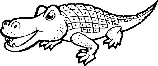 简笔画 动物简笔画 鳄鱼