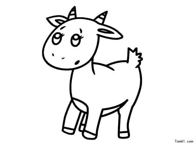 儿童简笔画图片大全:温顺的绵羊-少儿兴趣-无忧考
