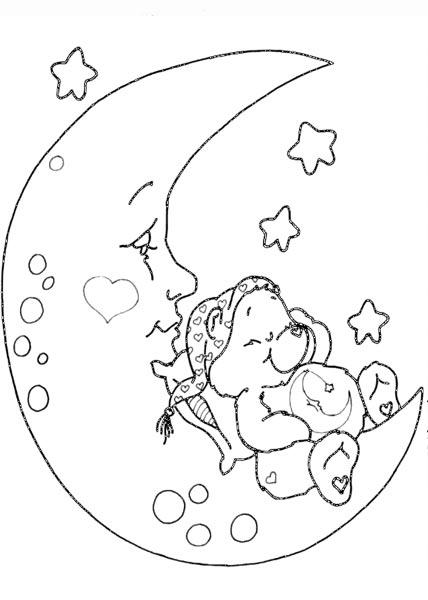 简笔画- 毛毛熊简笔画图片-小熊睡着了