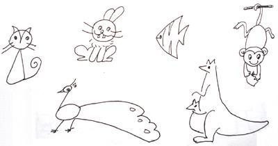 简笔画- 教你画六种小动物的简笔画教程