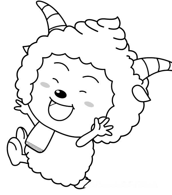 儿童画画 简笔画 懒羊羊简笔画教程儿童画画