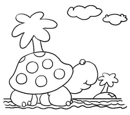 简笔画- 教你画可爱的小乌龟的简笔画教程