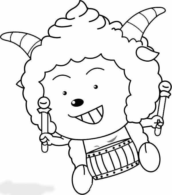 懒羊羊简笔画图片大全,懒羊羊简笔画图片,卡通简笔画,卡通动画简笔画,可可简笔画教程教宝宝学画懒羊羊的简单画法.