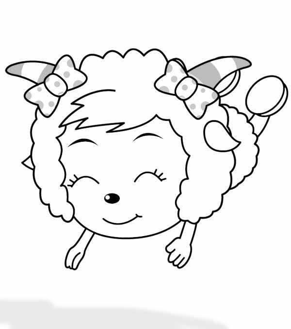 儿童画画 简笔画 教你画美丽的美羊羊的简笔画教程儿童画画