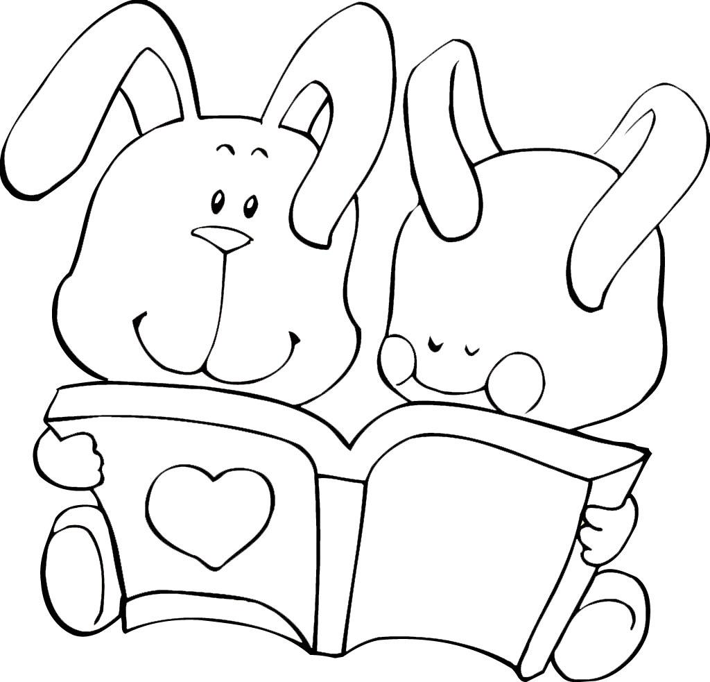 教你画两小只小兔子看书的简笔画教程简笔画 教你画两小只小兔子看书的简笔画教程图片欣赏 教你画两小只小兔子看书的简笔画教程儿童画画作品