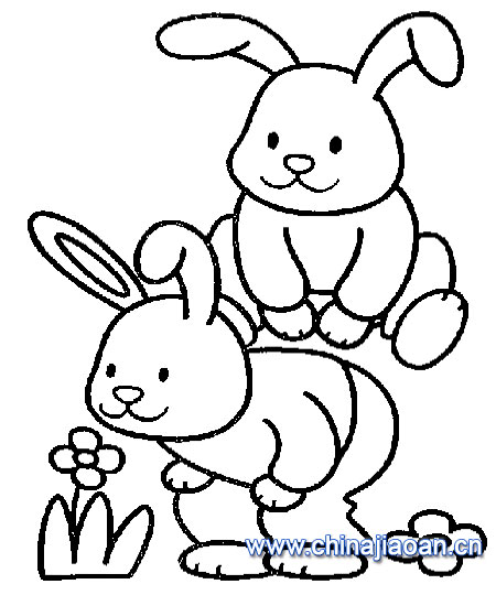 教你画两只小兔子的简笔画教程简笔画 教你画两只小兔子的简笔画教程图片欣赏 教你画两只小兔子的简笔画教程儿童画画作品