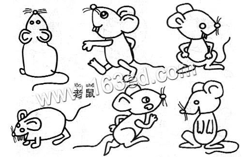 教你如何画小老鼠的简笔画教程儿童画画作品