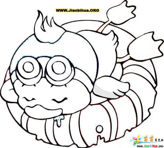 儿童画画 简笔画 超级可爱的小鸭子的简笔画儿童画画